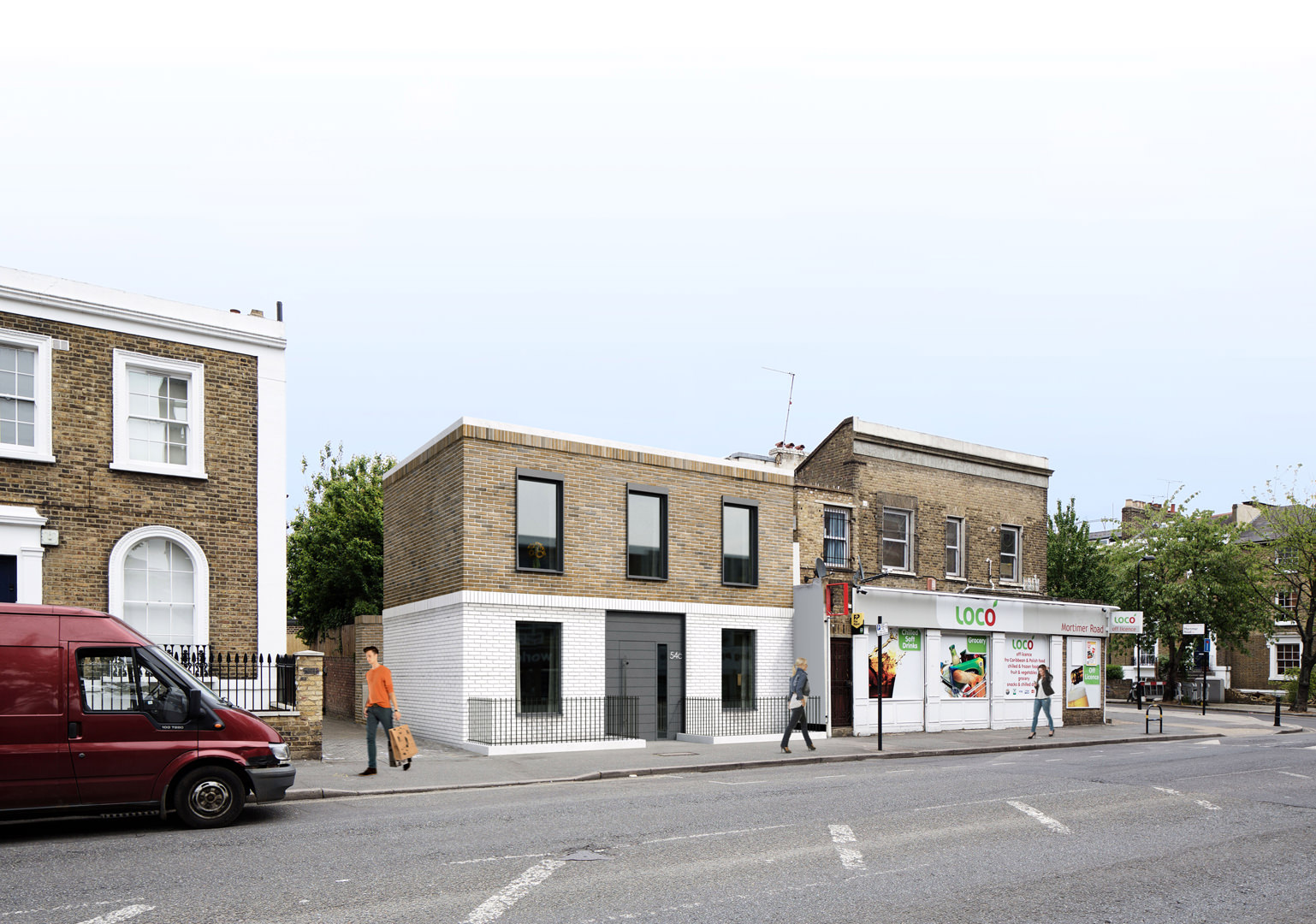 A new build two storey dwelling with a basement level on a central London garage site to create a 3 bedroom dwelling