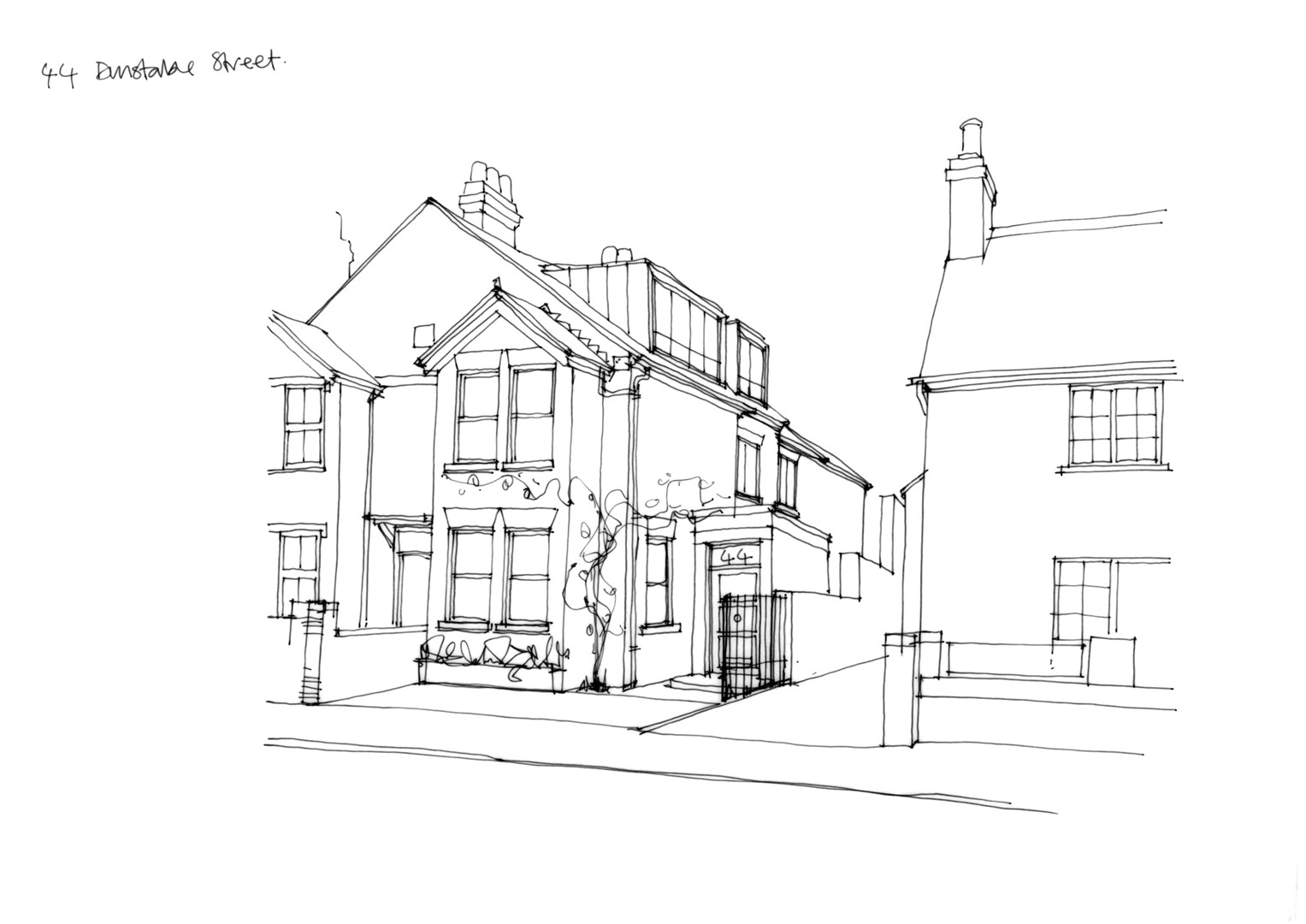 A ground, first and second floor extension to an existing unloved semi-detached home to create a large living kitchen, dining space addressing the garden and 2 additional bedrooms in Bedfordshire