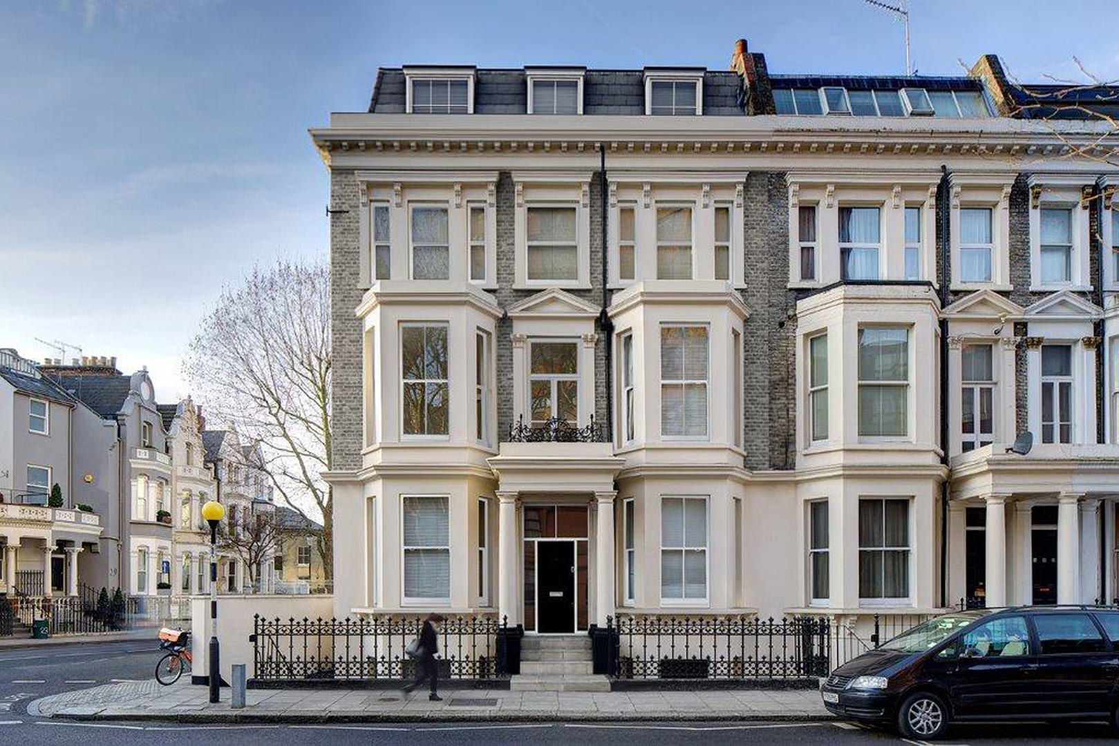 Reconstruction and refurbishment of a rundown and derelict end of terrace town house to create a fantastic central London family home (designed by M Doohan whilst at FCH Architects)