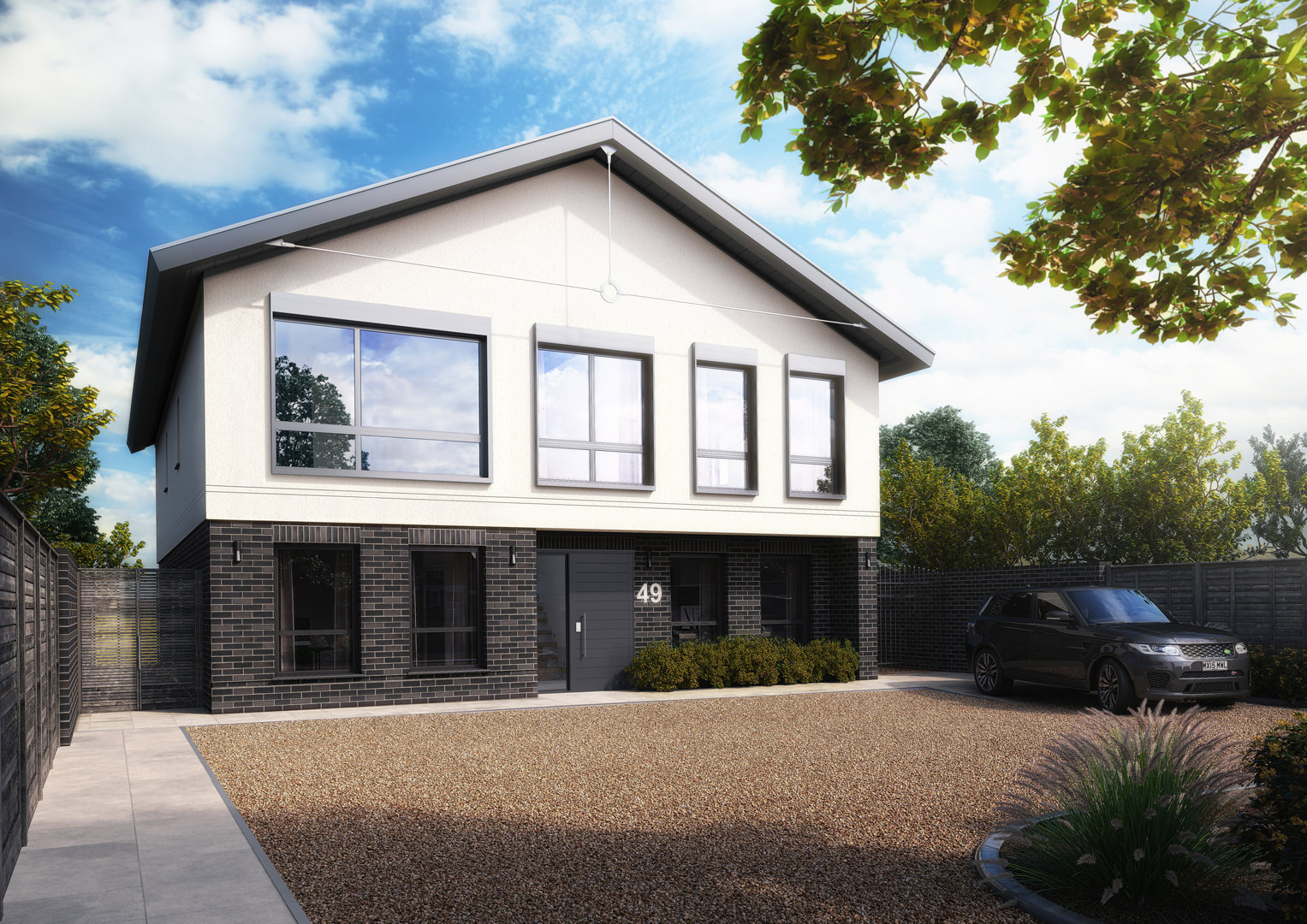 A demolition and new build project for a self builder creating a large 4 bedroom dwelling with the highest passivhaus and multi comfort home accreditation