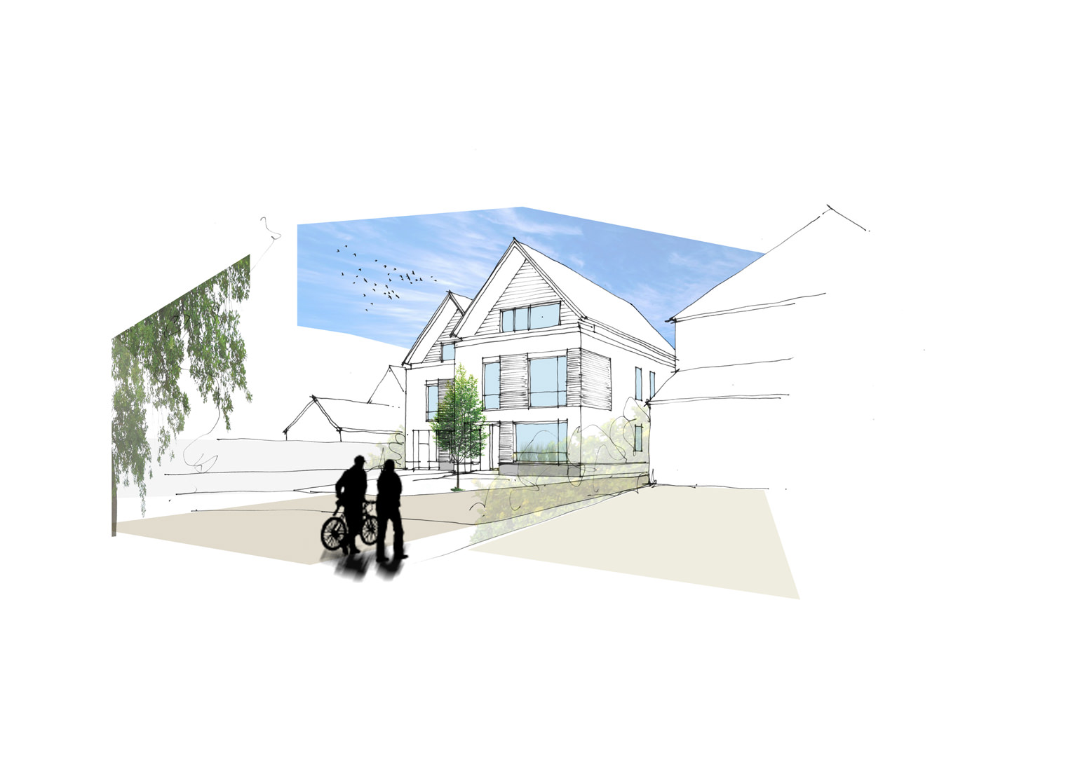 Two new 4 bedroom bespoke homes have been successfully granted planning approval in a beautiful village setting in Bedfordshire
