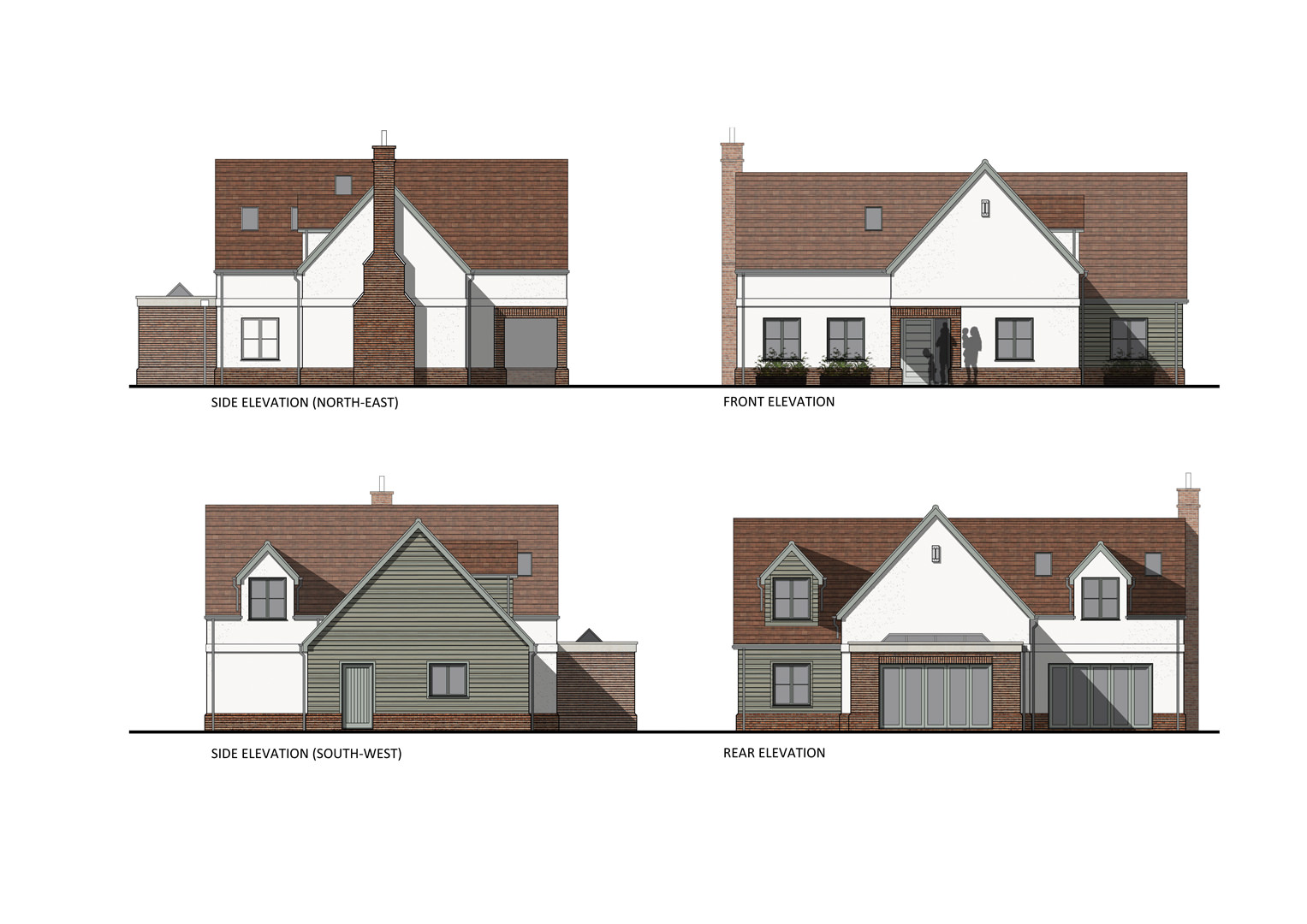 Newly designed 4 bedroom traditional style chalet bungalow home currently being constructed on a challenging site was successfully granted planning approval in Ampthill